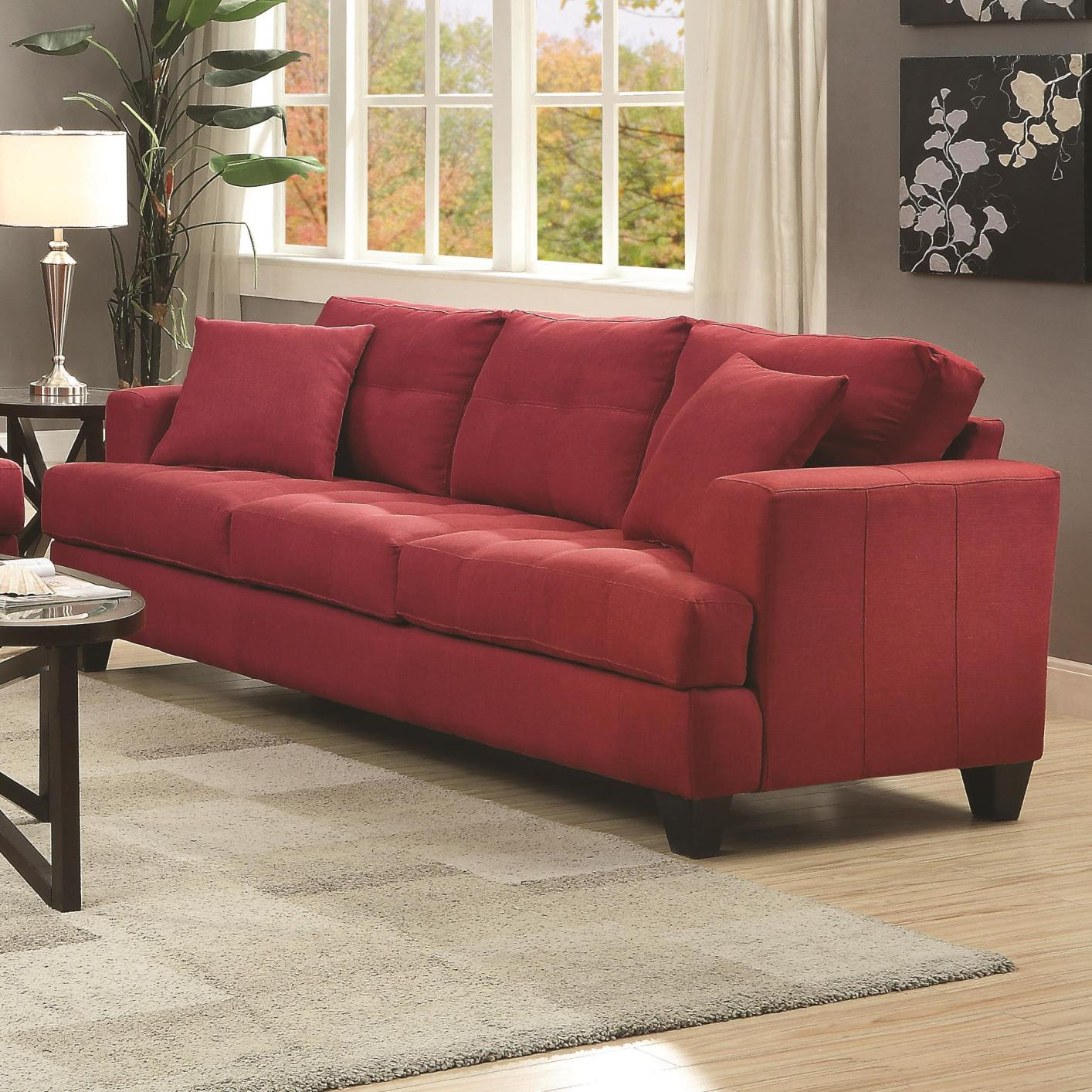 red fabric sofa gray sectional wayfair steal a furniture outlet los angeles ca