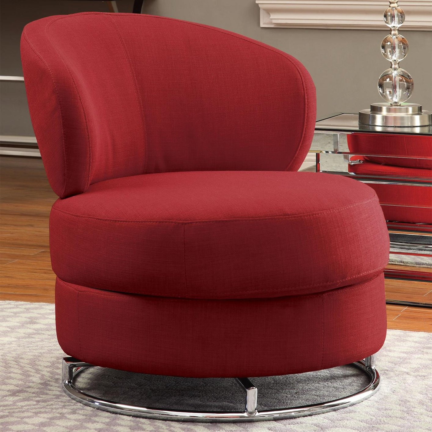 Red Swivel Chair Red Fabric Swivel Chair Steal A Sofa Furniture Outlet