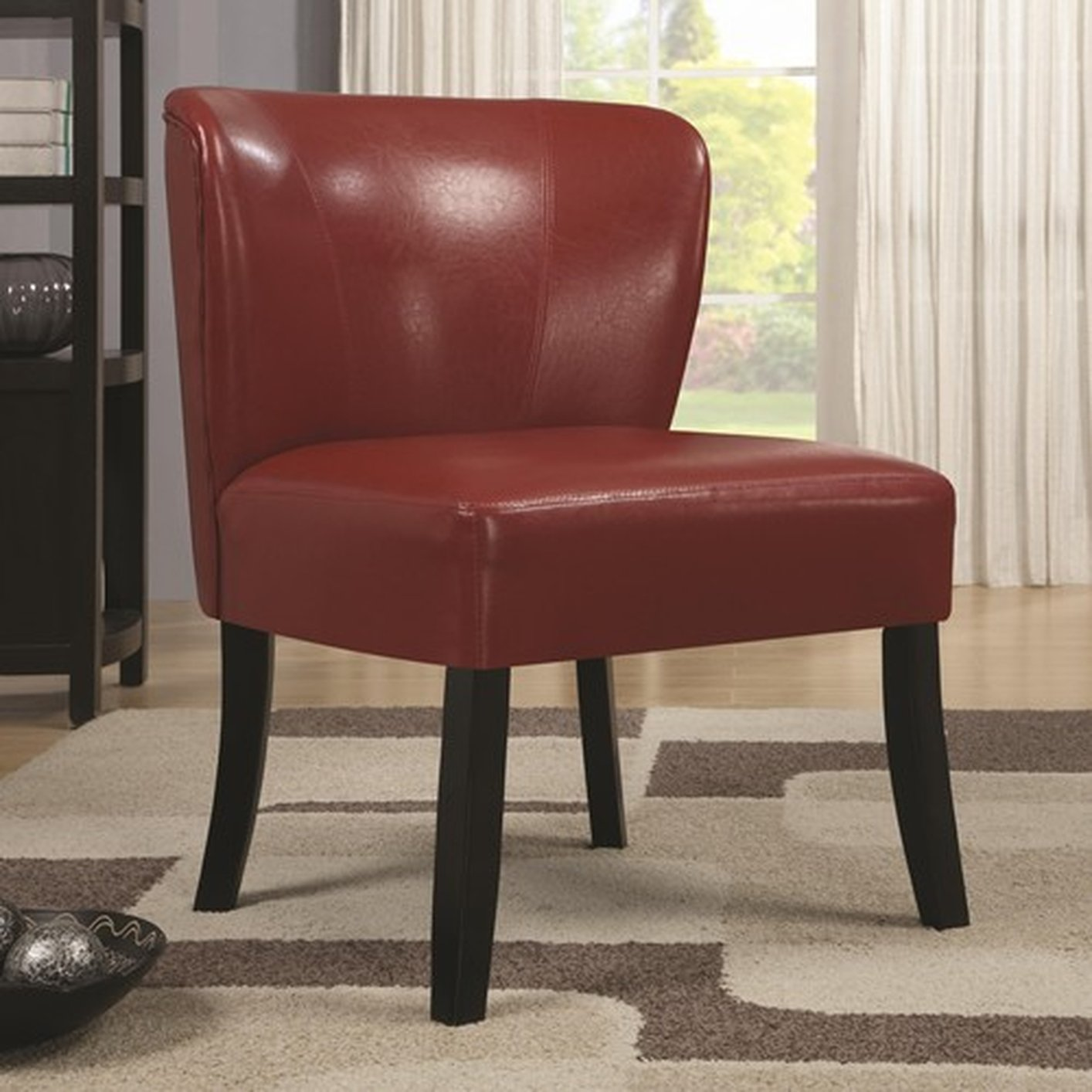 Red And White Accent Chair Red Leather Accent Chair Steal A Sofa Furniture Outlet