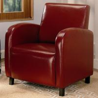 Red Leather Accent Chair - Steal-A-Sofa Furniture Outlet ...