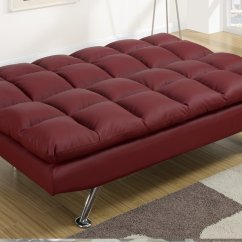 Twin Sofa Bed Leather Pro Seda Hazienda Red Size Steal A Furniture