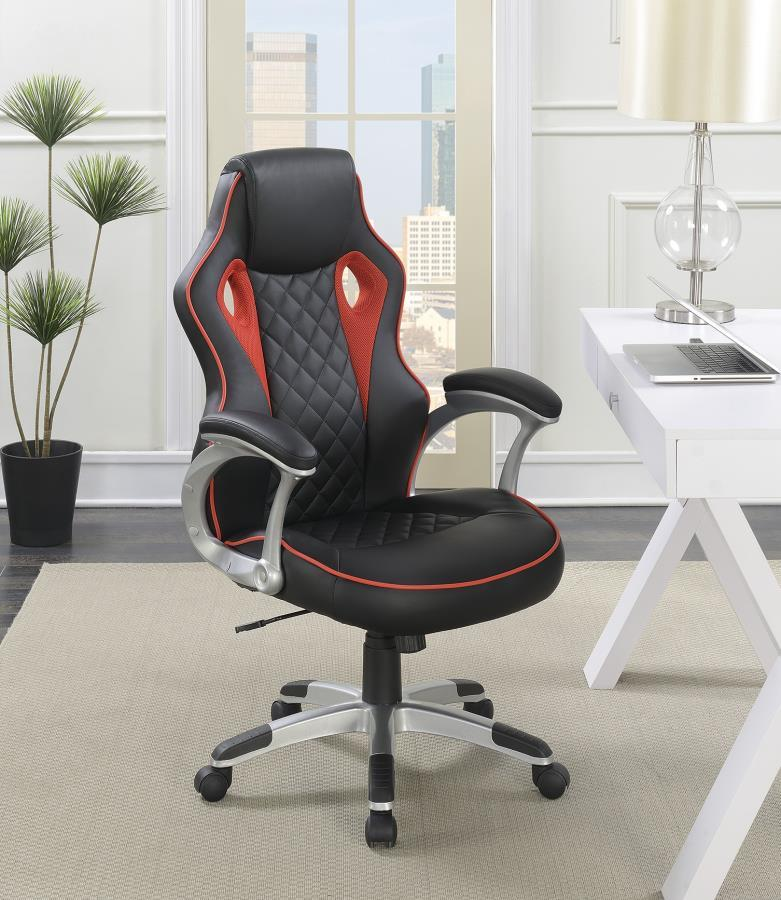 Red Metal Office Chair  StealASofa Furniture Outlet Los