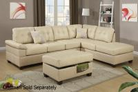 Beige Leather Sectional Sofa - Steal-A-Sofa Furniture ...