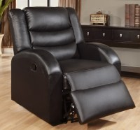 Black Leather Rocker Recliner Chair - Steal-A-Sofa ...