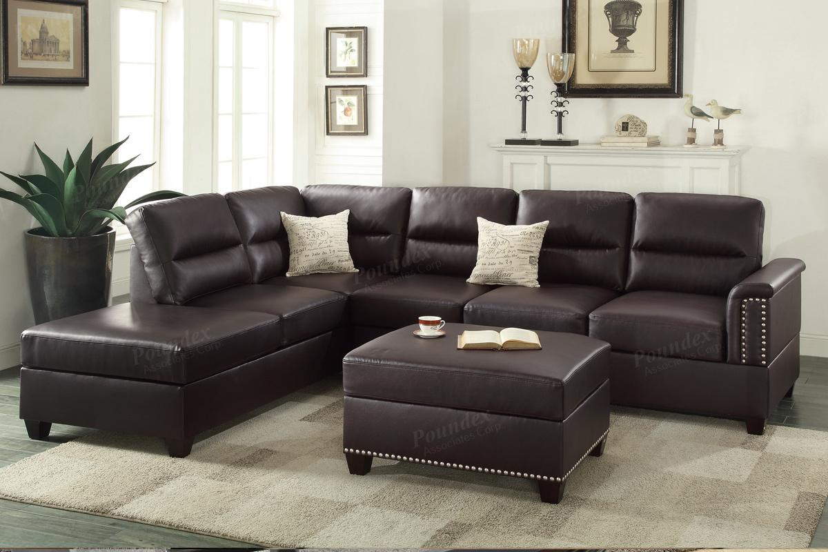 brown leather and fabric sectional sofa cheap sofas sydney steal a furniture