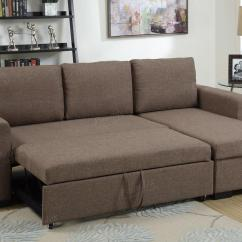 Brown Sectional Sleeper Sofa Cushions For Wooden Fabric Bed Steal A Furniture