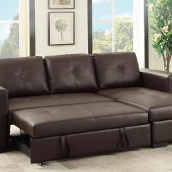 Sleeper Sofa Sectional Couch Next Lawson Brown Leather Steal A