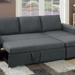Grey And White Sofa Bed Rialto Fabric Futon Sectional Alpine Sleeper Left Arm