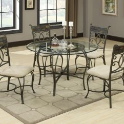 Metal Kitchen Table Sets How Much Does It Cost To Remodel A Small Sheridan Grey And Glass Dining Set Steal Sofa