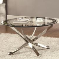 Silver Metal Coffee Table