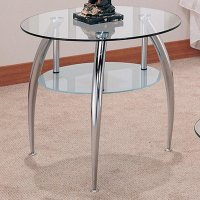 Silver Glass Coffee Table Set - Steal-A-Sofa Furniture ...