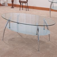 Silver Metal Coffee Table Set - Steal-A-Sofa Furniture ...