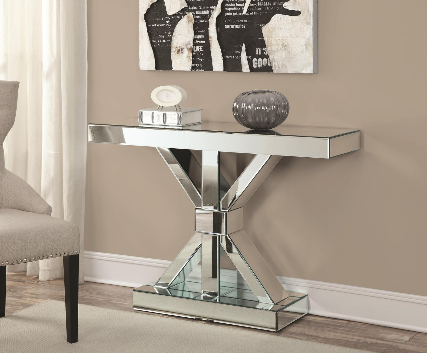 Silver Wood Console Table Steal A Sofa Furniture Outlet