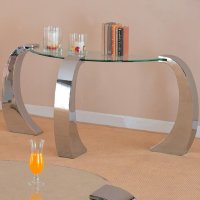 Silver Metal Sofa Table - Steal-A-Sofa Furniture Outlet ...