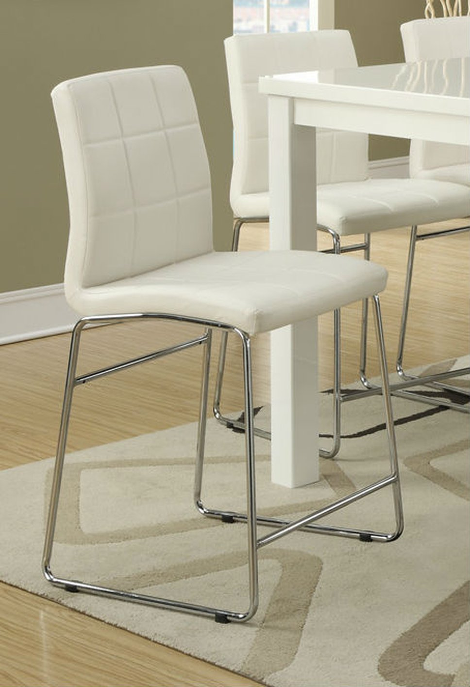 White Metal Dining Chair  StealASofa Furniture Outlet
