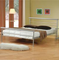 Silver Metal Bed - Steal-A-Sofa Furniture Outlet Los ...