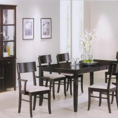 Springs For Dining Chairs Folding Chair Slipcovers Cappuccino Wood Table Steal A Sofa