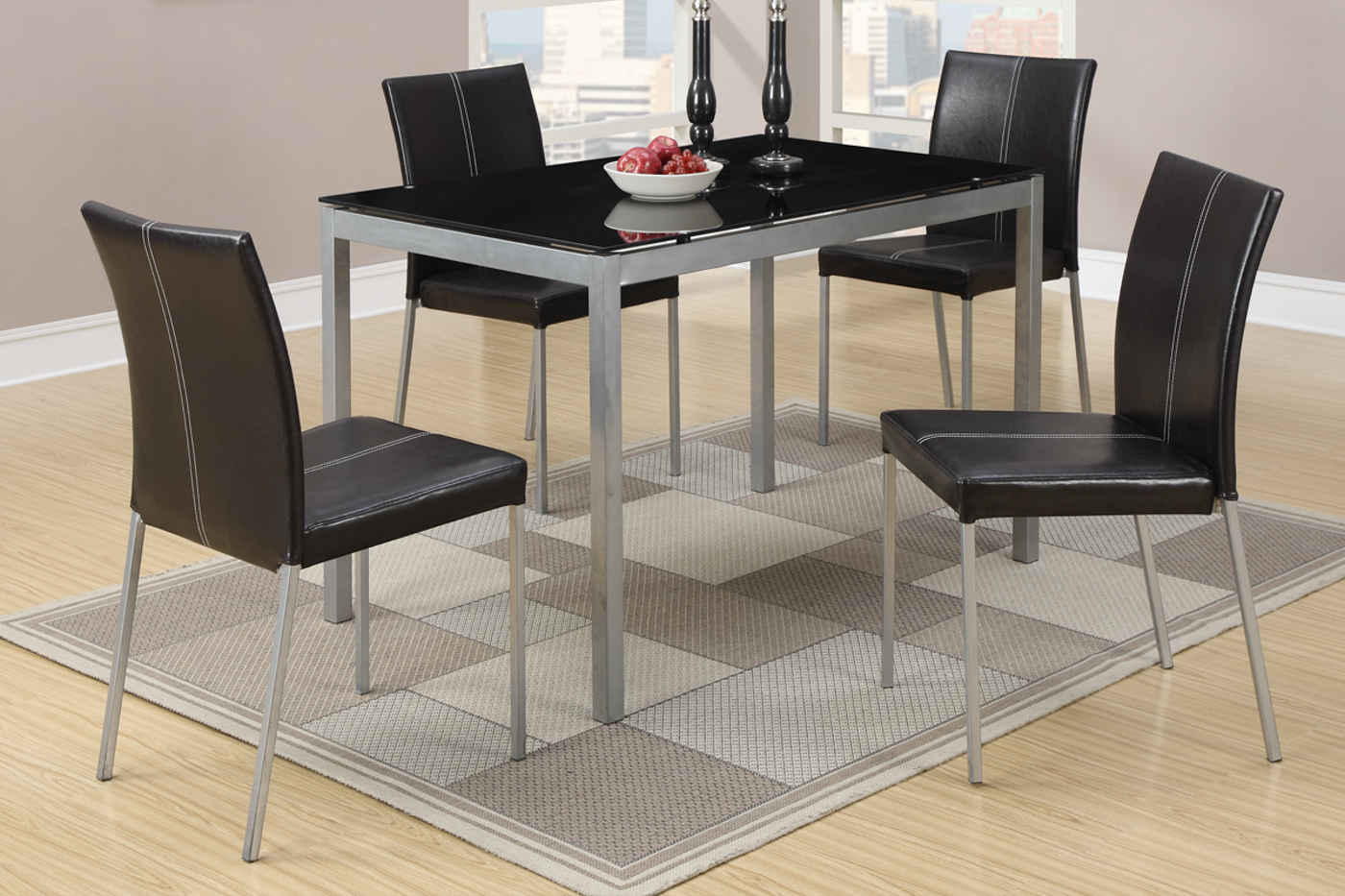 silver metal dining chairs floor rocking chair table and set steal a sofa furniture outlet los angeles ca