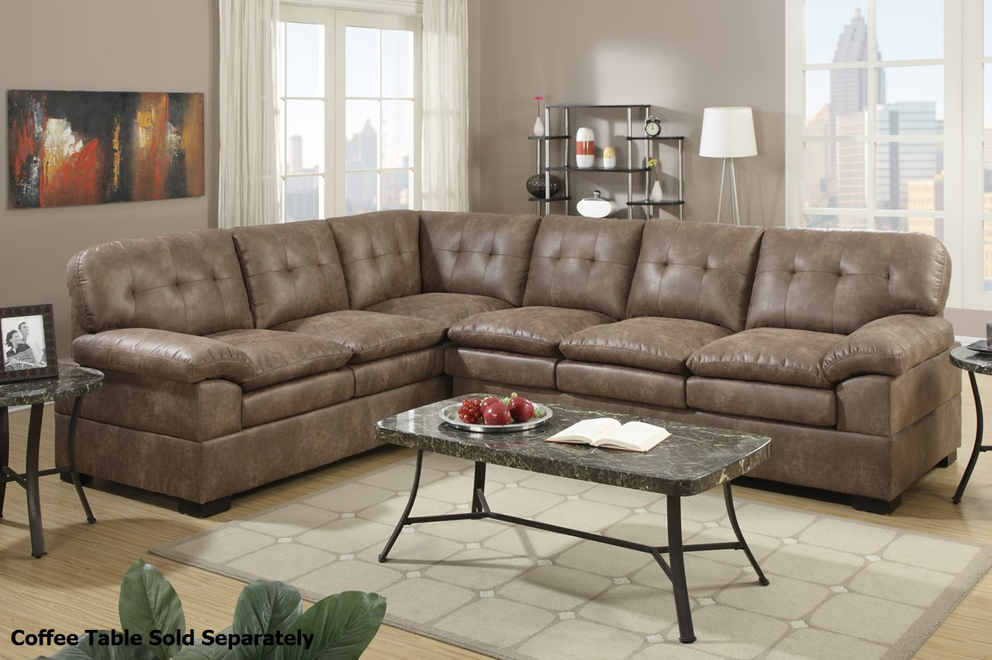 tyson sectional sofa erska sleeper review brown fabric steal a furniture