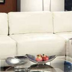 Armless White Leather Sofa Wicker Sofas Uk Chair Steal A Furniture