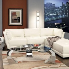 Armless White Leather Sofa Scs Jackson Sofas Chair Steal A Furniture