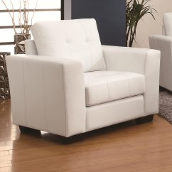 White Cushion Chair Acrylic Office Leather Steal A Sofa Furniture Outlet Los Angeles Ca