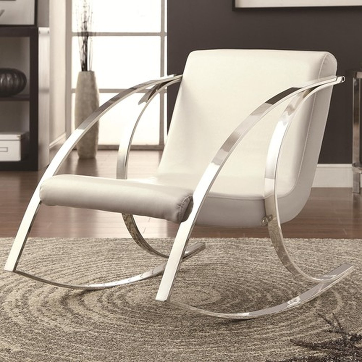 Rocking Accent Chairs White Metal Rocking Chair