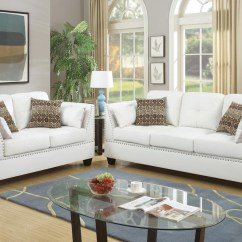 White Leather Sofa And Loveseat Set The Shop Kogarah Steal A