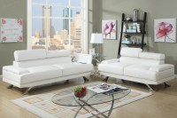 White Leather Sofa and Loveseat Set - Steal-A-Sofa ...