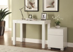 Coaster 801737 White Wood Office Desk   Steal A Sofa ...