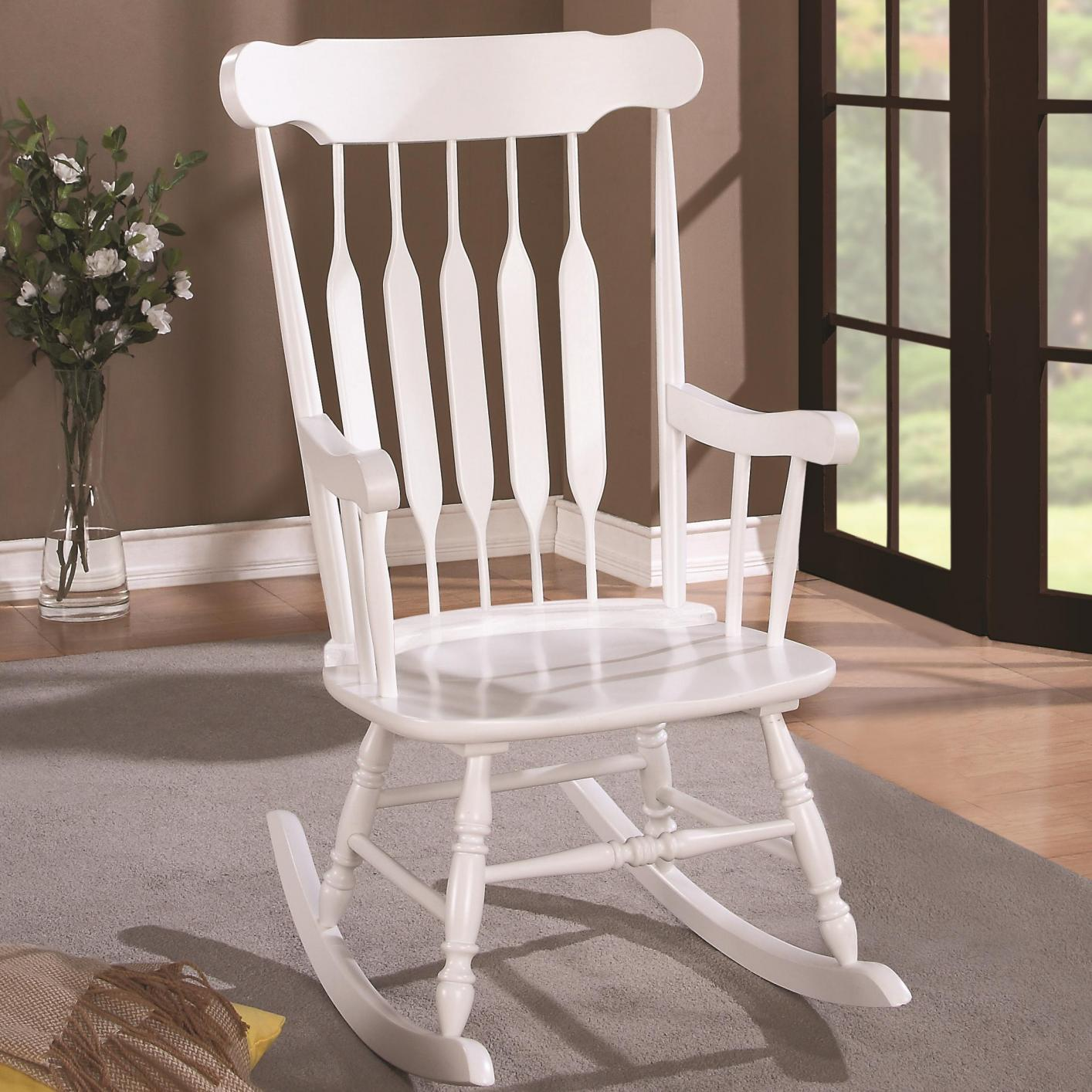 white wood rocking chair gold covers on sale steal a sofa furniture outlet