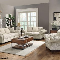 Sofa And Loveseat Set Up Cushion Covers For Malaysia Willow Beige Fabric Steal A Furniture Outlet Los Angeles Ca