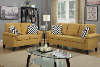 Yellow Fabric Sofa and Loveseat Set - Steal-A-Sofa ...
