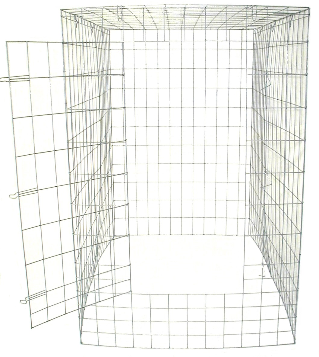 Large Fly Pen 10 12 Gauge Wire Galvanized Extra Wire At Bottom Front Only Freight