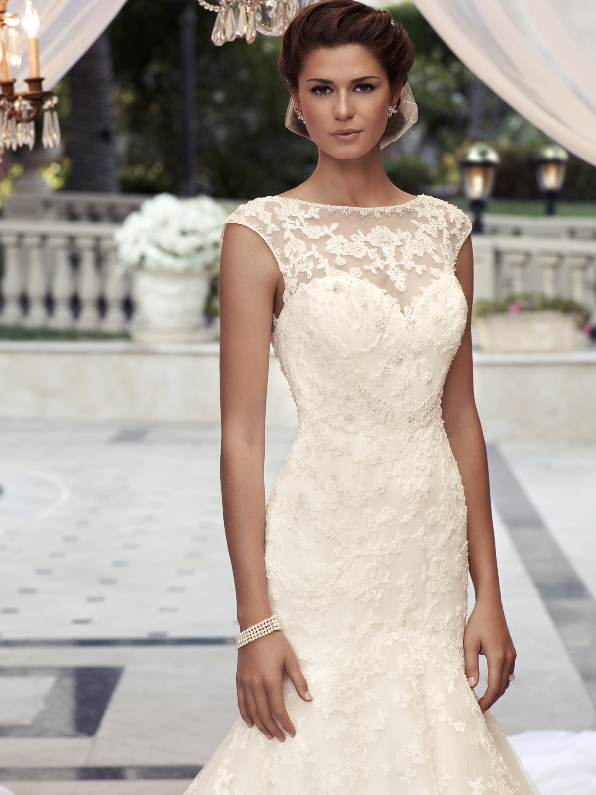 Cap Sleeve Fit And Flare Casablanca Bridal Gown 2110