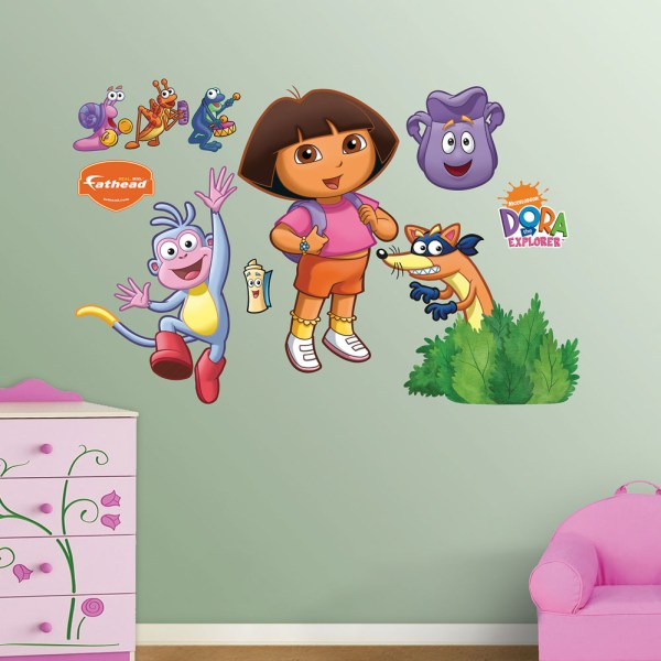 Dora Backpack And Boots Realbig Wall Decal