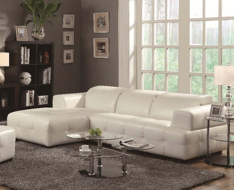sectional sofa dallas fort worth modular chaise longue darby white by coaster 503617
