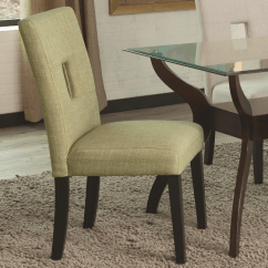 Green Upholstered Dining Chairs Steelcase Office India Chair With Cappuccino Legs By Coaster Furniture 106653 Dallas Fort Worth