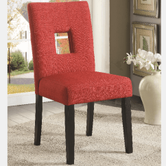 Red Tufted Dining Chair Recliner With Cup Holder Upholstered Cappuccino Legs By Coaster Side 106655 2pk