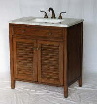 32 inch Bathroom Vanity Coastal Cottage Beach Vintage ...