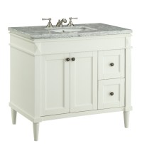 35.5 inch Bathroom Vanity Transitional Style White Color ...