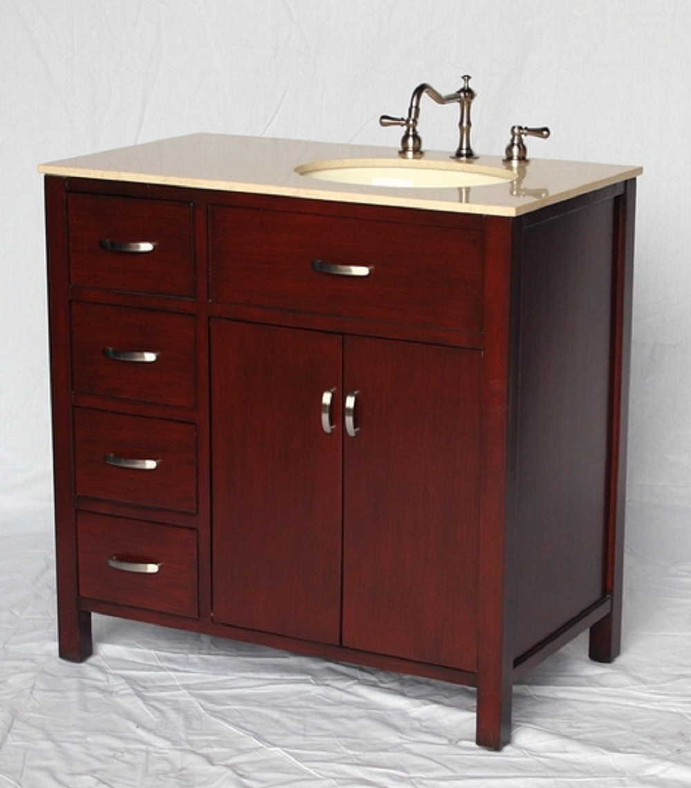 36 inch bathroom vanity with sink on