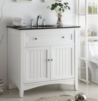 37 inch Bathroom Vanity Cottage Beach Style Beadboard ...