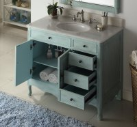 38 inch Bathroom Vanity with 3 Drawers on The Right ...