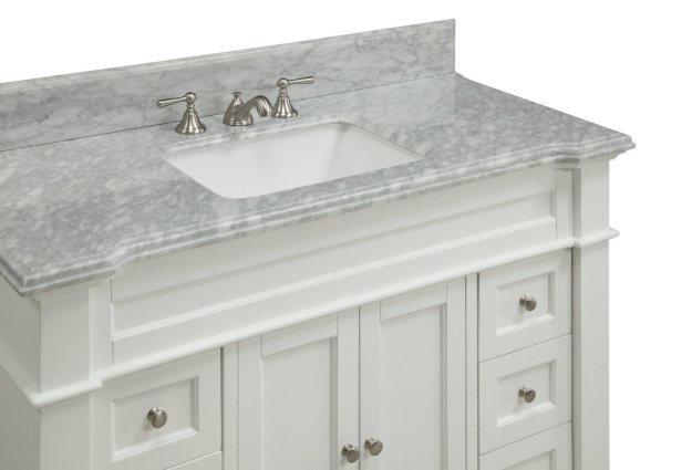 48 inch white shaker bathroom vanity cottage beach style carrara