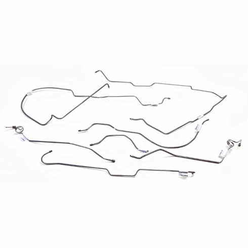 OMIX 531005 Full Brake Line Set, With Manual Disc