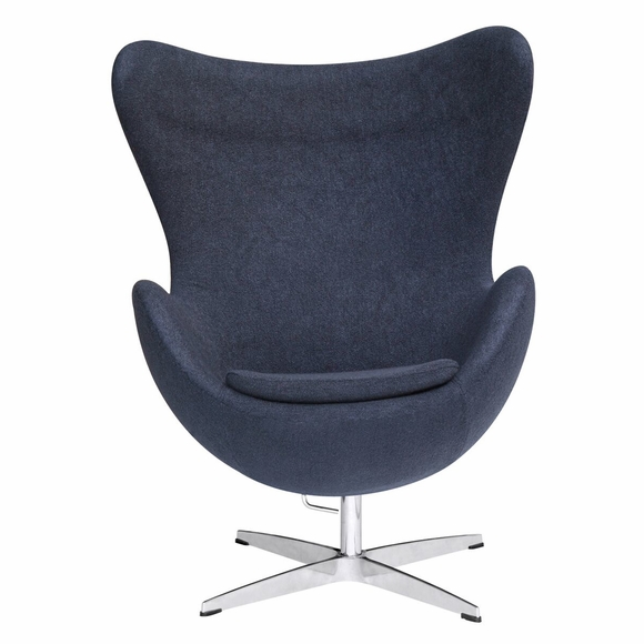 Jacobsen Style Egg Chair Wool Black