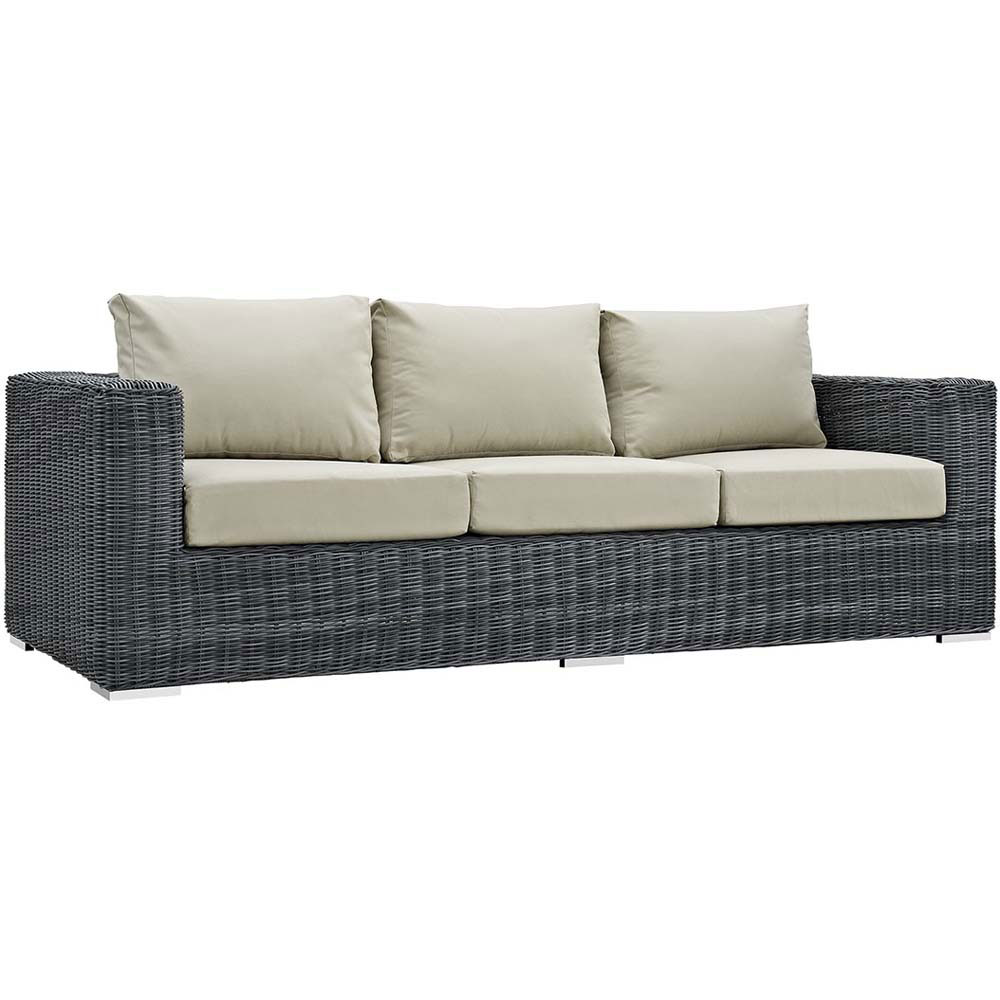 lexmod monterey outdoor wicker rattan sectional sofa set omnia furniture brookfield leather reclining sectionals