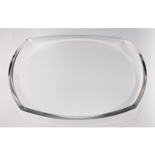 12 1 2 inch clear square glass table centerpiece