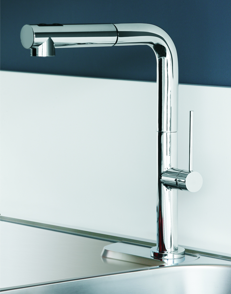 chrome kitchen faucet fan filter modern with pull out dual shower slim 1